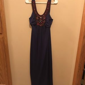 Maurices beaded maxi dress